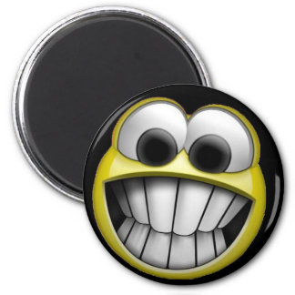 Grinning Happy Smiley Face Magnet