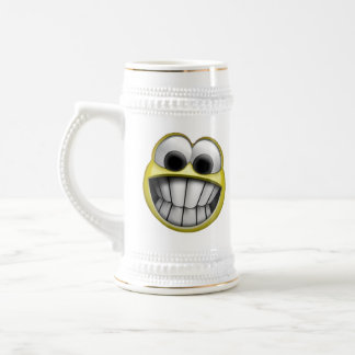 Grinning Happy Smiley Face 18 Oz Beer Stein