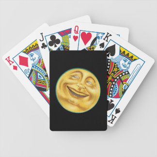 Grinning Moon on Halloween Bicycle Playing Cards