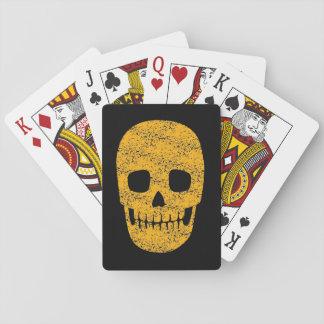 Grinning Orange Skull - Halloween Gift Poker Cards