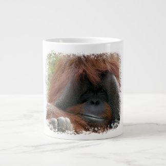 Grinning Orangutan Photo Mug for Animal Lovers 20 Oz Large Ceramic Coffee Mug