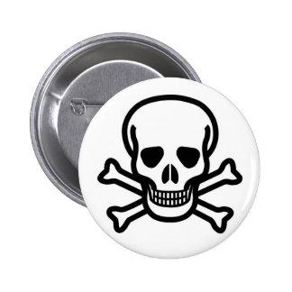 Grinning Pirate Skull & Crossbones Pin