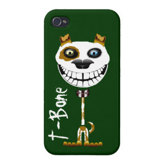 Grinning Pitt Bull dog. Smiling terrier puppy iPhone 4 Cover