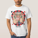 Grinning Poker Pig mens t-shirt