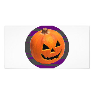 Grinning Pumpkin Card