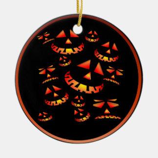 Grinning Pumpkins Ornaments