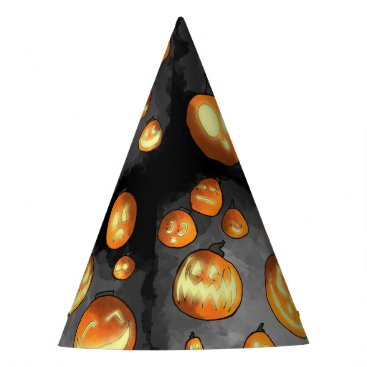Halloween Themed Grinning Pumpkins Party Hat