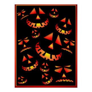 Grinning Pumpkins Posters