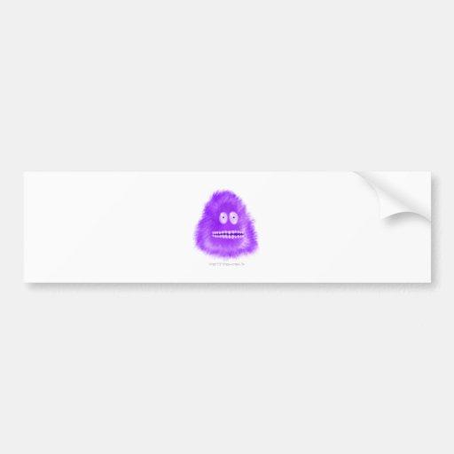 Grinning Purple Critter Bumper Stickers