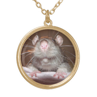 grinning rat necklace