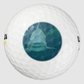 Grinning Shark Pack Of Golf Balls