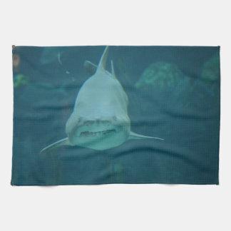 Grinning Shark Hand Towel