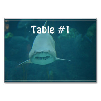 Grinning Shark Table Cards