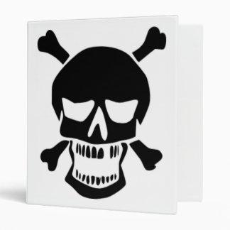 Grinning Skull & Bones 3 Ring Binder