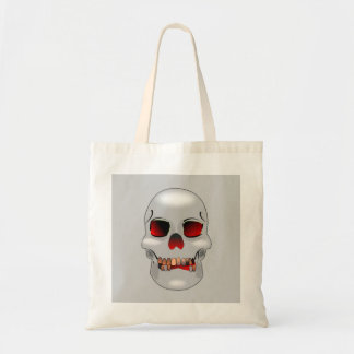 Grinning skull tote