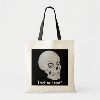 Grinning Skull Trick or Treat Tote Bag