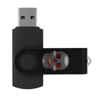 Grinning Skull USB Drive Swivel USB 2.0 Flash Drive