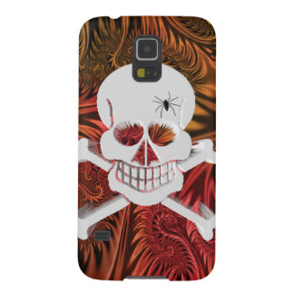 Grinning Skull with Spider Galaxy S5 Case