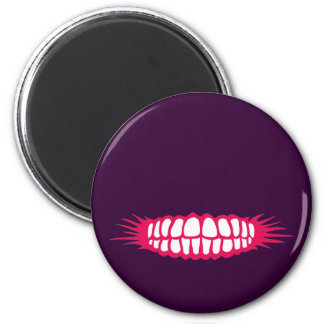 Grinning Teeth 2 Inch Round Magnet