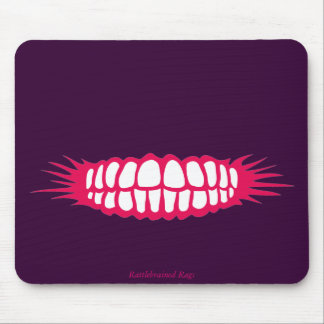 Grinning Teeth Mouse Pad