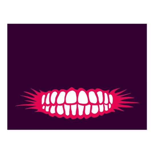 Grinning Teeth Postcard