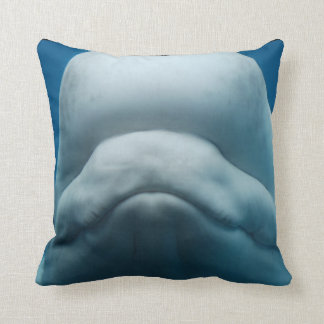 Grinning White Whale Pillows