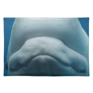 Grinning White Whale Cloth Placemat