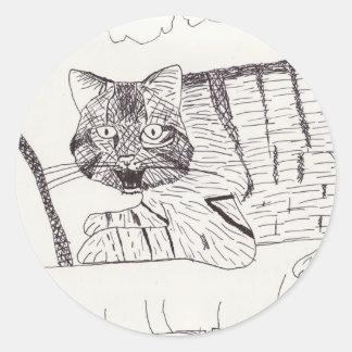 Grinning Wildcat stickers