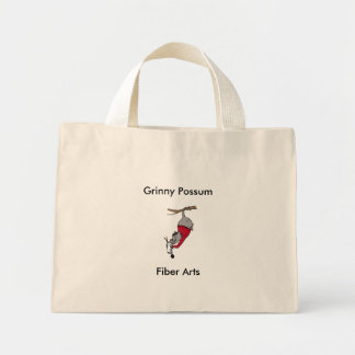 Grinny Possum, Fiber Arts Mini Tote Bag