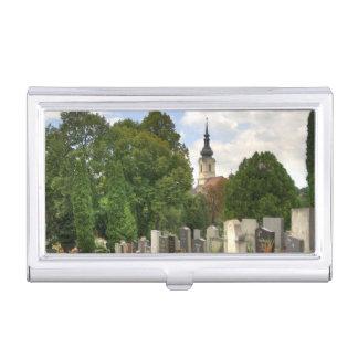 Grinzinger Friedhof, Wien Österreich Business Card Case