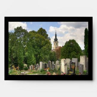Grinzinger Friedhof, Wien Österreich Envelope