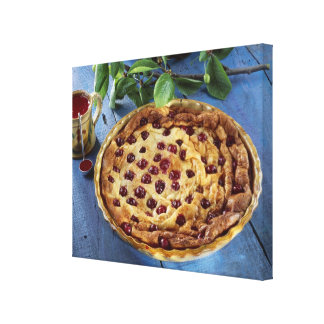 Griotte cherry clafoutis For use in USA Canvas Print