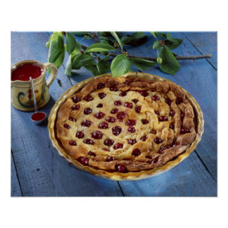 Griotte cherry clafoutis For use in USA Poster
