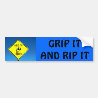 Grip it and Rip - Golf Cart Car Bumper Sticker