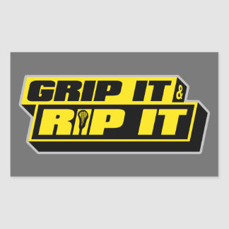 Grip It and Rip It Rectangular Sticker