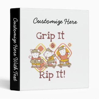 Grip It and Rip It Skateboarding 3 Ring Binder