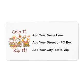 Grip It and Rip It Skateboarding Label