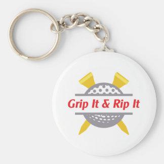 Grip It & Rip It Basic Round Button Keychain