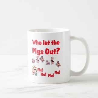 ¿Gripe 2009 de los cerdos - quién dejó los cerdos  Taza