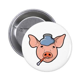 Gripe de los cerdos - botón pin