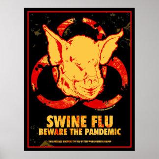 ¡GRIPE de los CERDOS - guárdese del pandémico! Poster