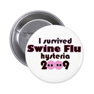 Gripe de los cerdos pin redondo 5 cm