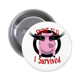Gripe de los cerdos pin redondo de 2 pulgadas