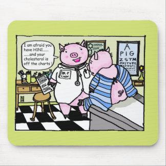 gripe de los cerdos alfombrilla de ratones