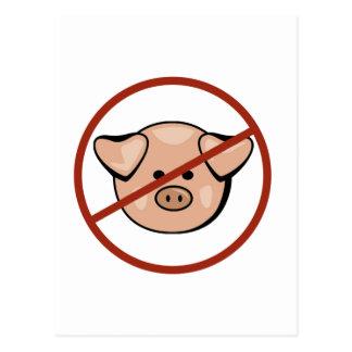 Gripe de los cerdos tarjeta postal