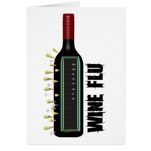 Gripe del vino felicitaciones