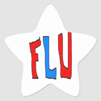Gripe Pegatina En Forma De Estrella
