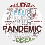 Gripe Pegatina Redonda