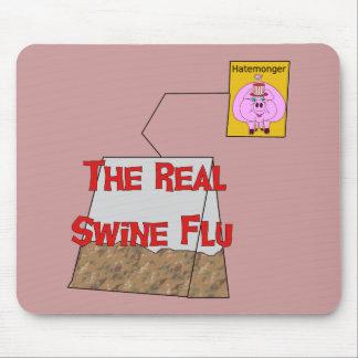Gripe real de los cerdos mousepad