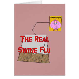 Gripe real de los cerdos tarjetas